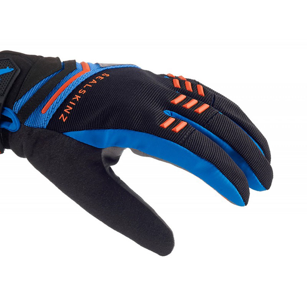 Sealskinz Dragon Eye MTB Gloves Black // Blue // Orange // L