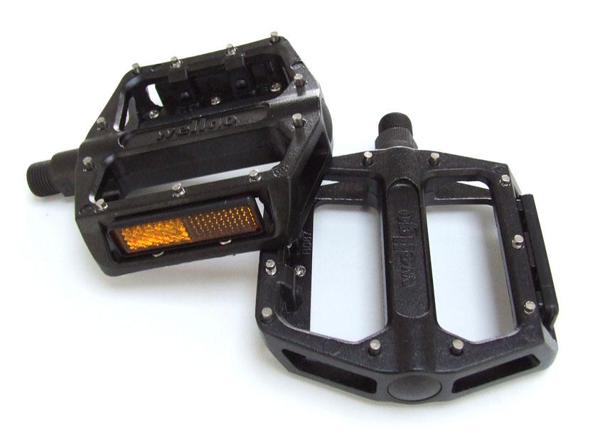 "Wellgo B087 BMX Pedals 1//2/"" Black Pair Aluminum Replacement Bicycle Pedals"